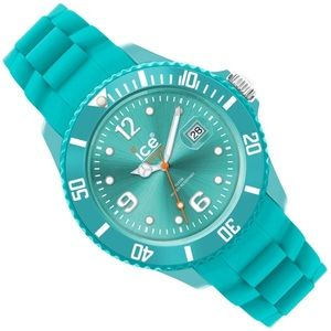 NWOT ICE Watch Teal Green Silicone Band Water Res